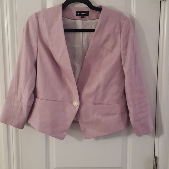 Express pink 3/4 sleeve blazer